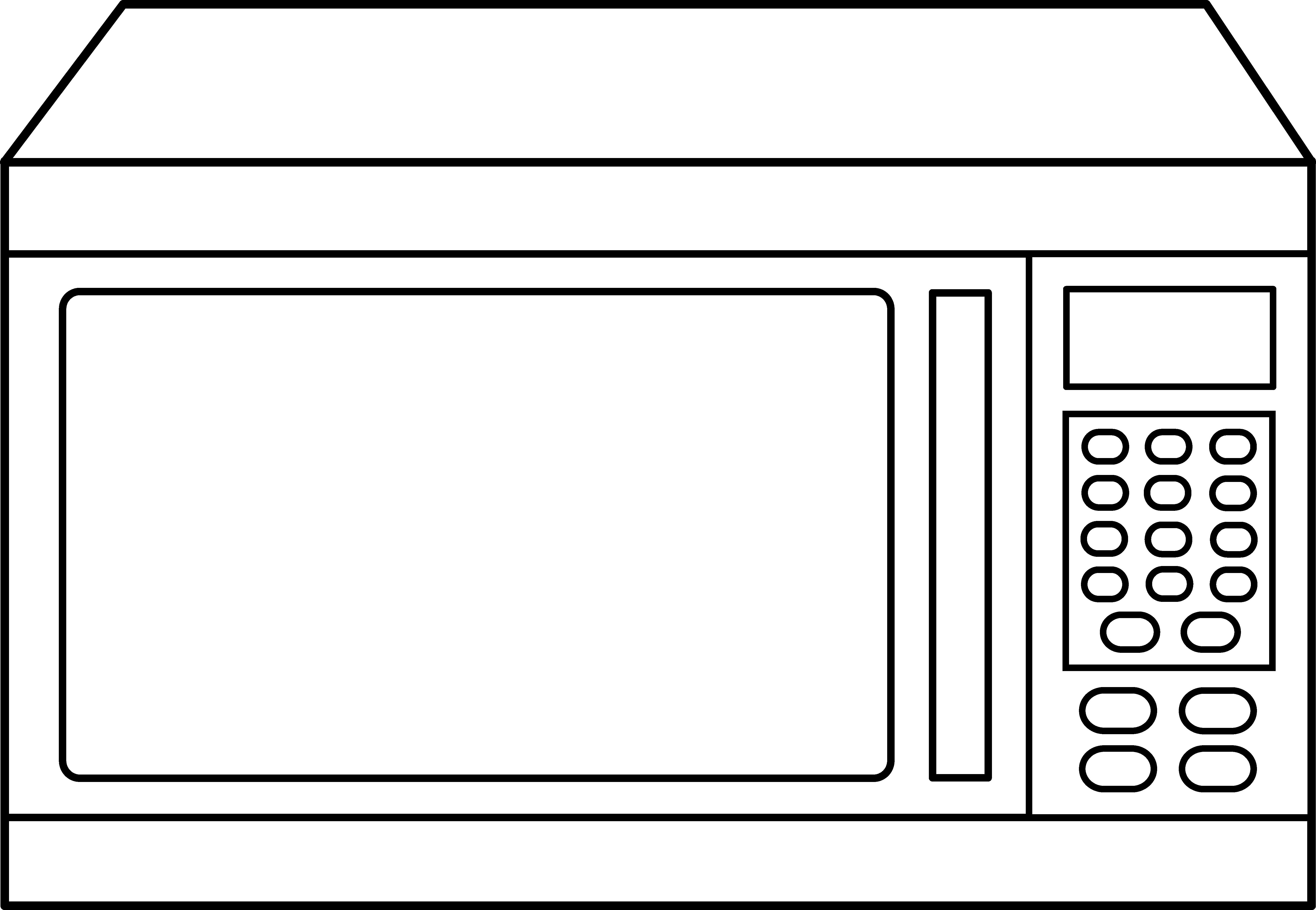 Microwave Oven Line Art.
