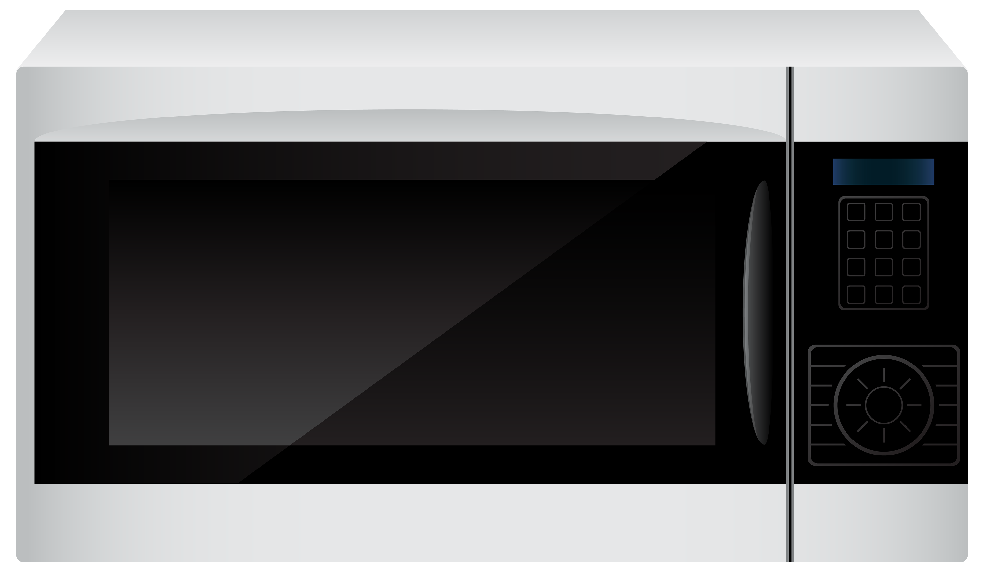 White Microwave PNG Clipart.