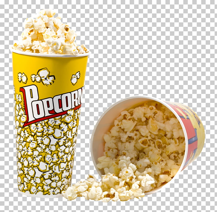 Microwave popcorn Maize, Popcorn, two popcorn tumblers PNG.