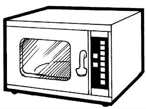 Microwave Black And White Clipart.