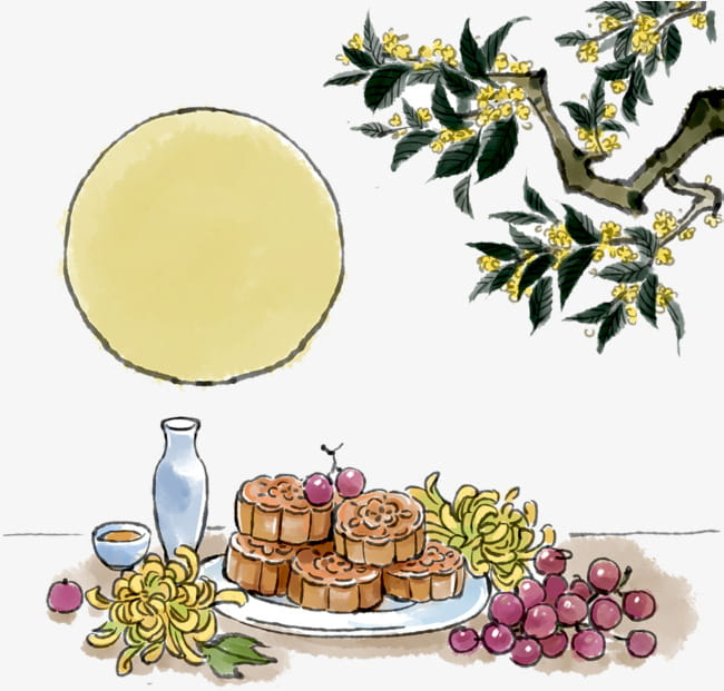 Mid autumn festival illustration PNG clipart.