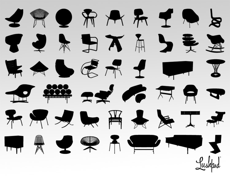 Modern Furniture Clipart Collections by LushPad.