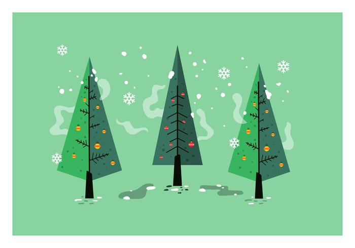 Mid Century Christmas tree Vector.