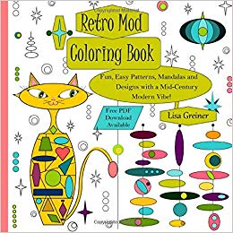 Retro Mod Coloring Book: Fun, Easy Patterns, Mandalas and.