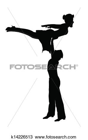 Clipart of dancers in mid air k14226513.