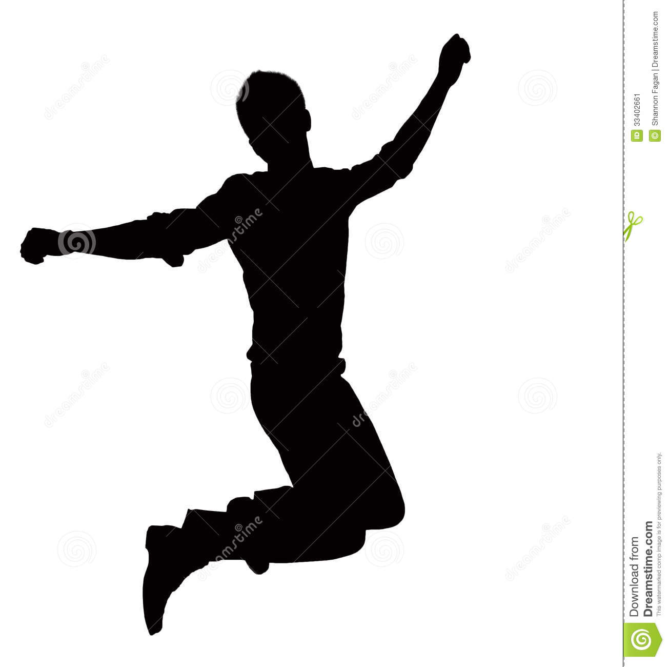 Silhouette Of Businessman Jumping Mid Air Stock Image Image.
