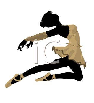Picture of a Ballet Dancer In Mid Air With Her Arms and Legs Back.