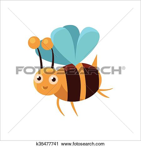 Clipart of Bee Mid.
