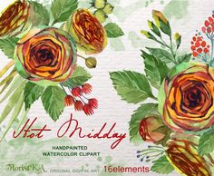 SALES!!! Wedding clipart. Digital Watercolours clipart hand drawn.