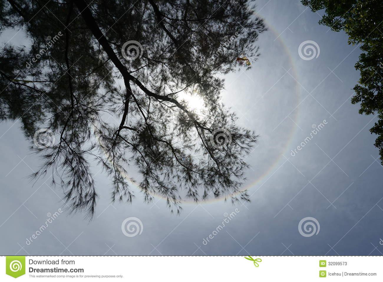 Ring Around The Sun Stock Photos.