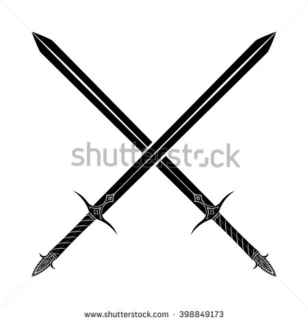 Crossed Swords Stock Images, Royalty.