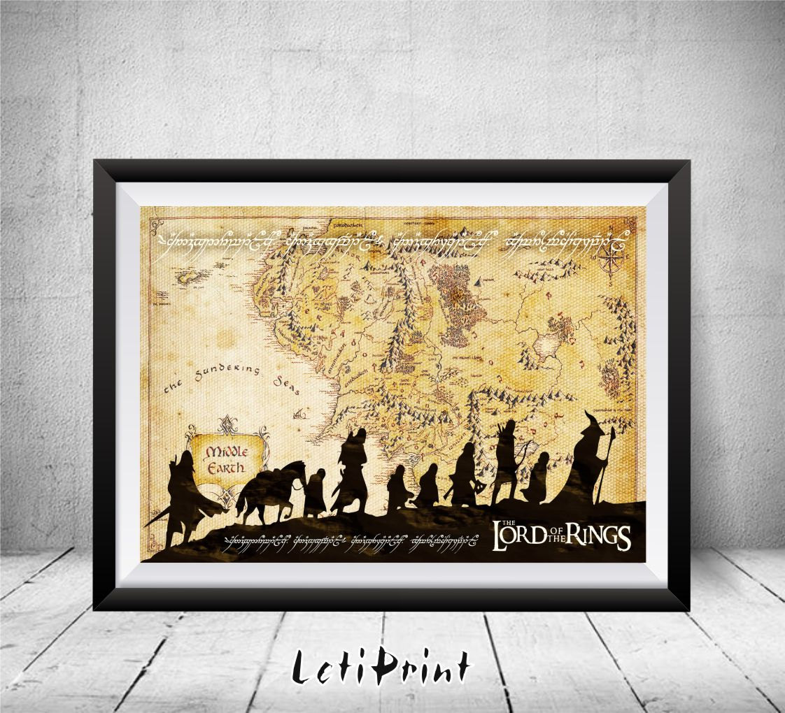Middle earth map clipart.