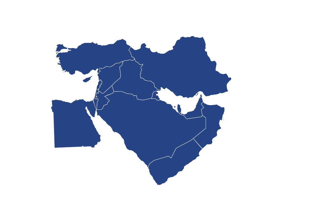 Middle east map clipart.