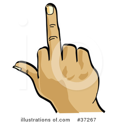 Middle Finger Clipart #37267.