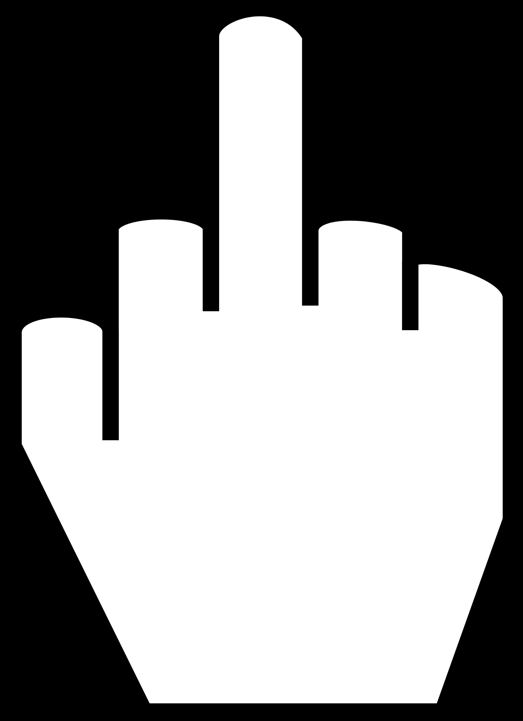 Clip Art Middle Finger.