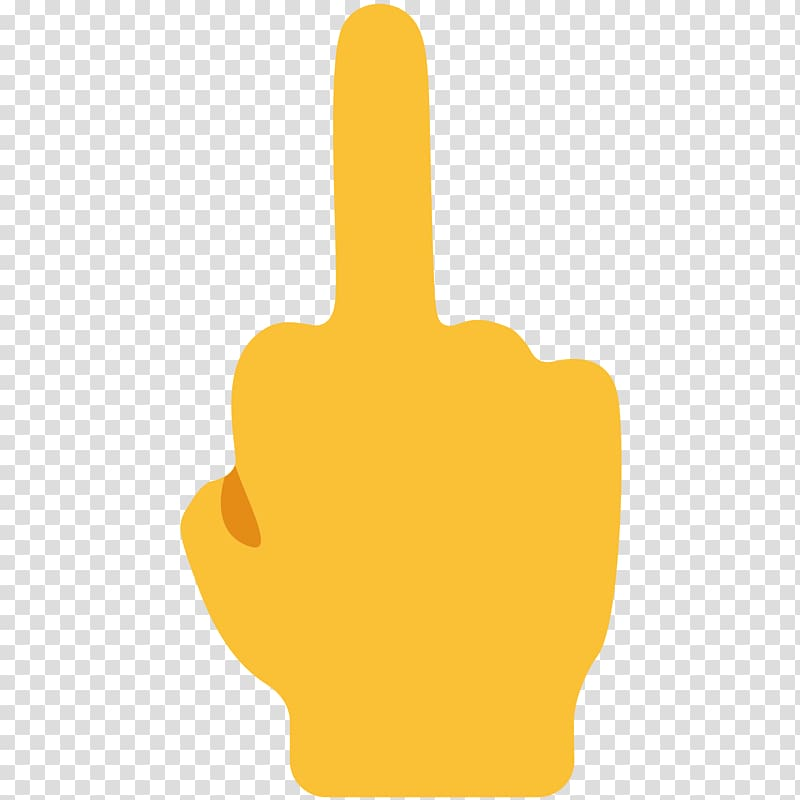 Raising middle finger emoji, Emoji The finger Thumb signal.
