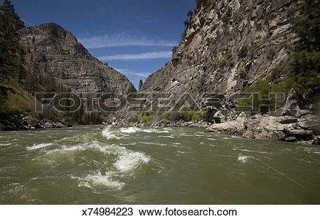 Stock Photo of Impassable Canyon, Middle Fork Salmon River, Idaho.