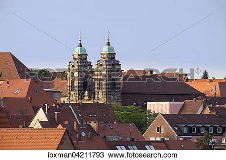 Stock Photo of Egidienkirche church, Sebalder Altstadt, Nuremberg.