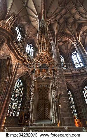 Stock Photo of Tabernacle, Church of St. Lorenz, Nuremberg, Middle.