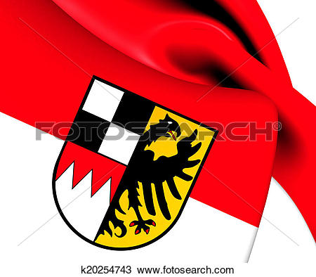 Drawing of Flag of Middle Franconia, Germany. k20254743.