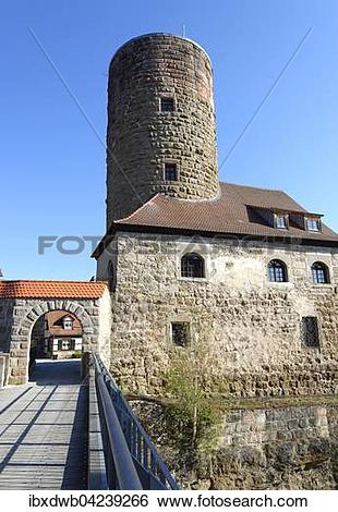 Stock Images of Thann castle, Burgthann, Schwarzach, Middle.