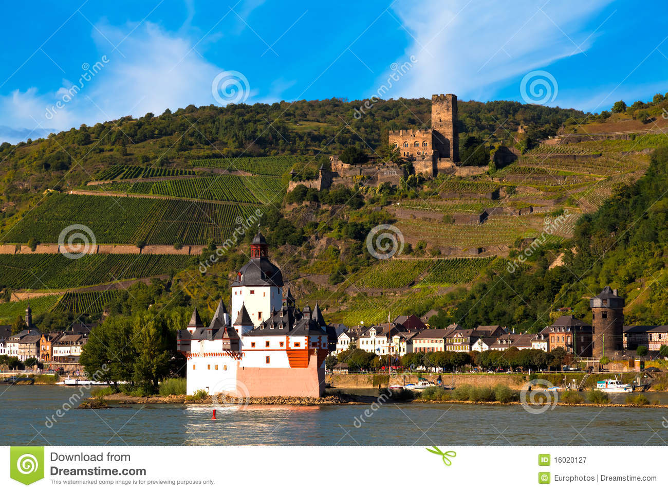 Upper Middle Rhine Valley, World Heritage Site Royalty Free Stock.