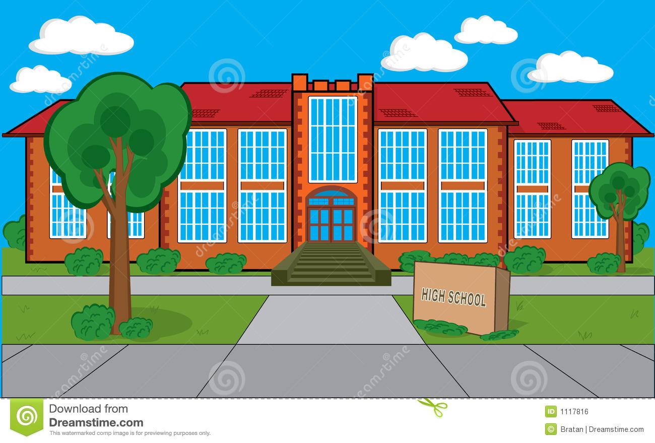 Middle School Building Clipart.