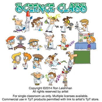 Science Class Cartoon Clipart Vol. 1.