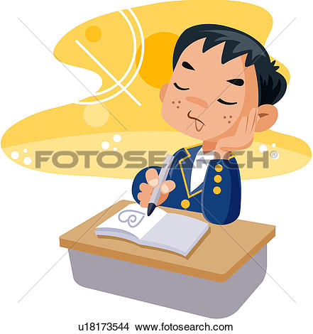 Clip Art of middle school, student, high school student, junior.