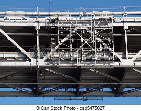 Picture of Close up of San Francisco Bay Bridge middle section of.