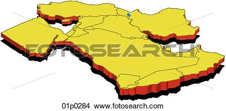 Clipart of mideast slanted 01p0284.