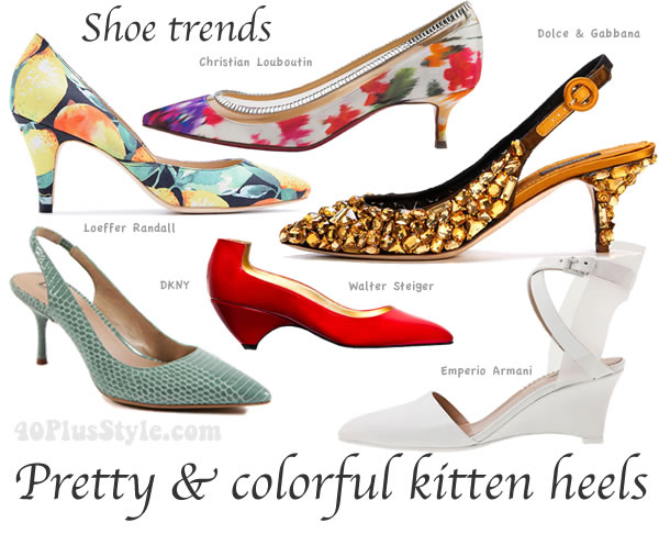 The best shoe trends for spring and summer 2014: mid heel shoes.