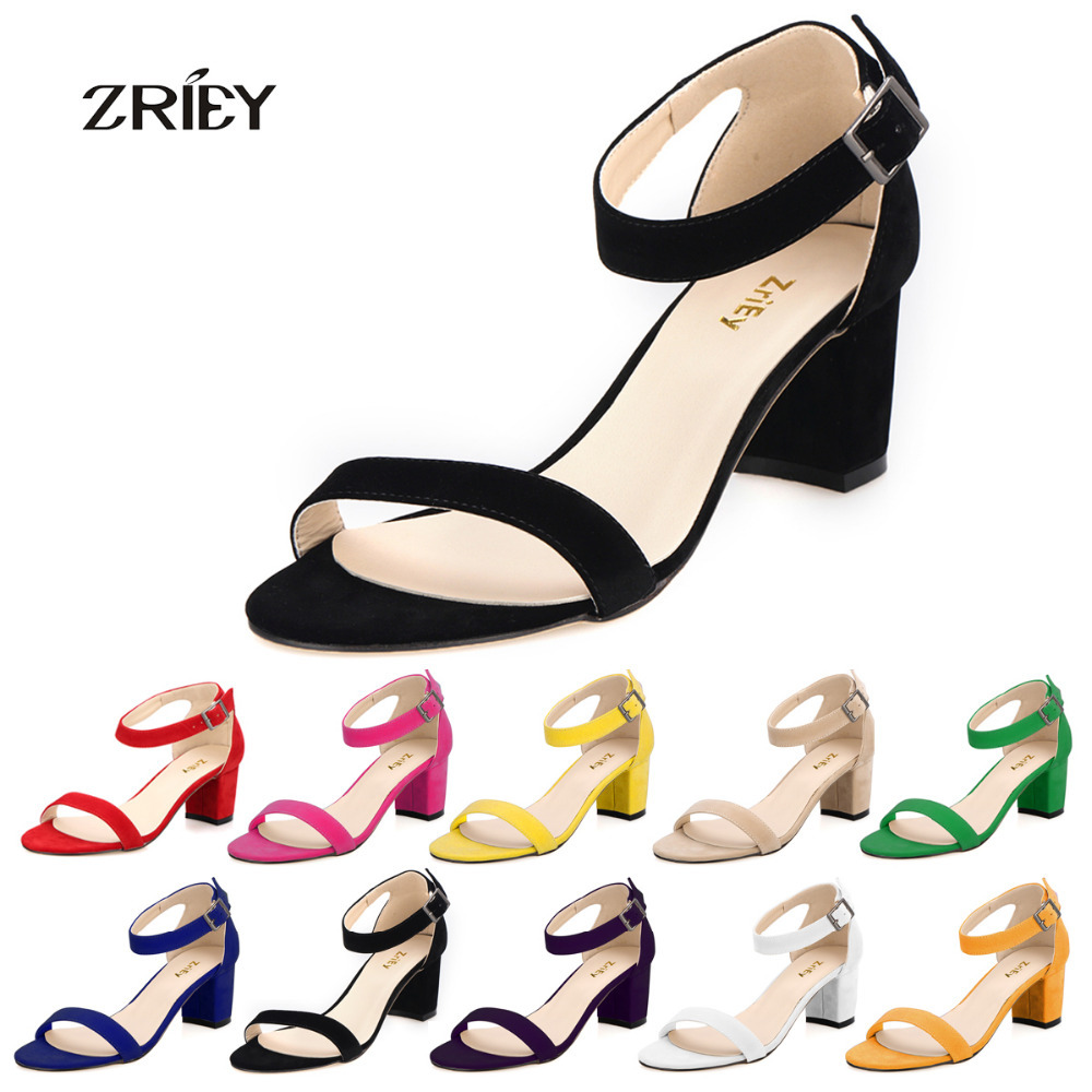 Popular Mid Heel Ankle Strap Pumps.