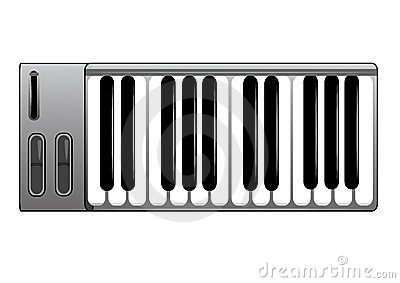 Midi Keyboard Royalty Free Stock Image.