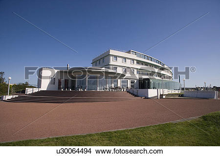 Stock Photo of England, Lancashire, Morecambe Bay, The Midland.