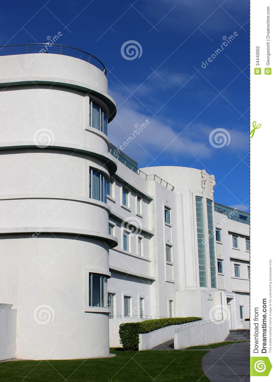 Iconic Art Deco Midland Hotel Morecambe Lancashire Stock.