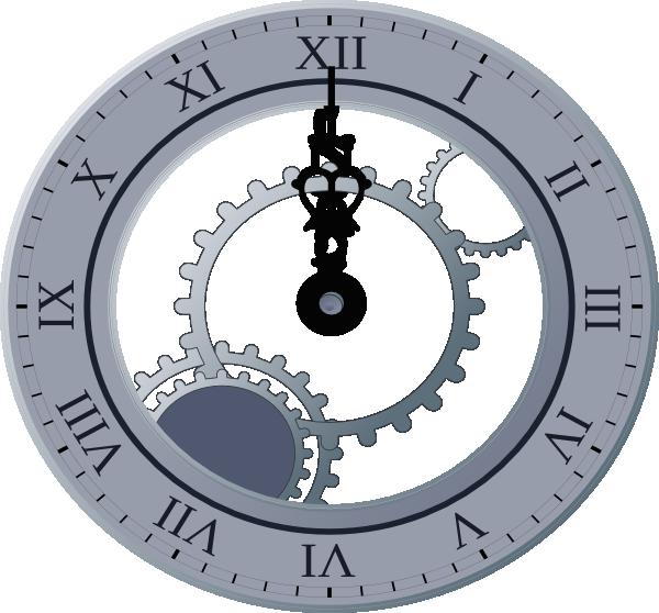 Midnight clock clipart.