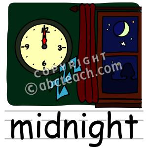 Midnight clipart.