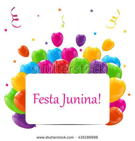 Festa Junina Holiday Background. Traditional Brazil June Festival.