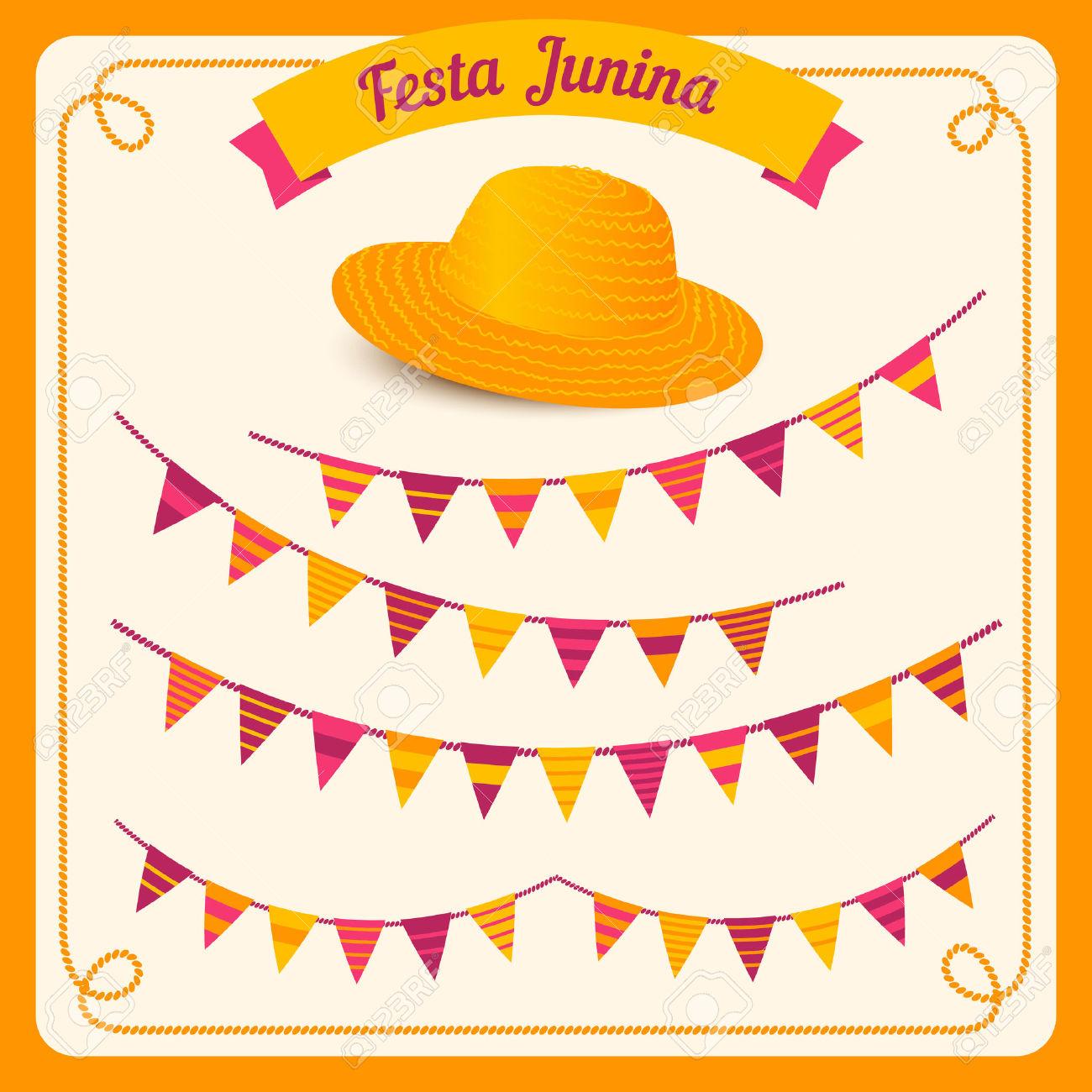 Festa Junina Illustration Traditional Brazil June Festival Party.