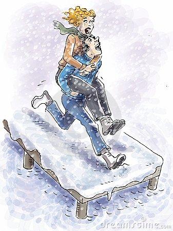Winter Day Pier Miedzyzdroje Stock Illustrations.