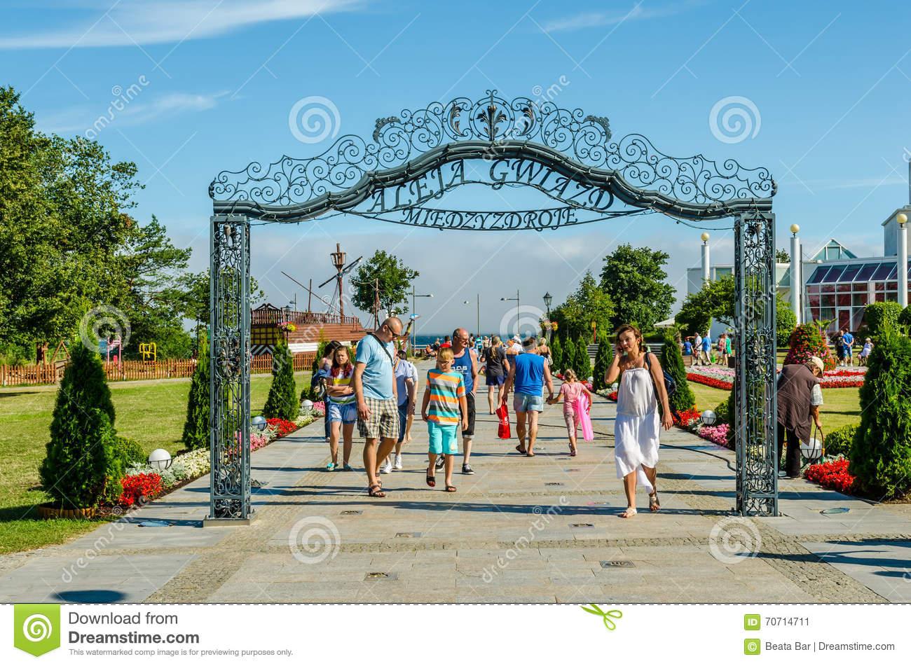 Walk Of Fame In Miedzyzdroje, Poland. Editorial Photo.
