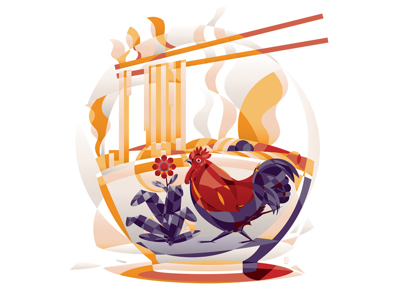 Mie Ayam by Revoltan on Dribbble.