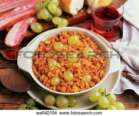 Stock Photo of ?Migas? (traditional dish in Spanish cuisine) with.