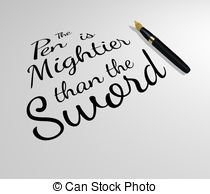 Pen mightier than sword Illustrations and Stock Art. 9 Pen.