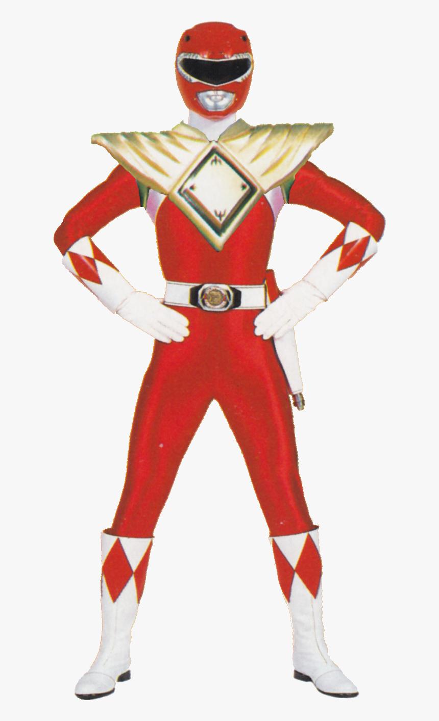 Power Rangers Red Power Ranger Costume Clipart , Png.