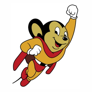 Mighty Mouse logo svg.
