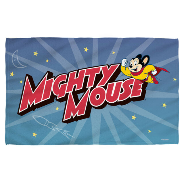 Mighty Mouse Cartoon Logo SPACE HERO Lightweight Beach Towel.