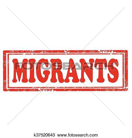 Clipart of Migrants.