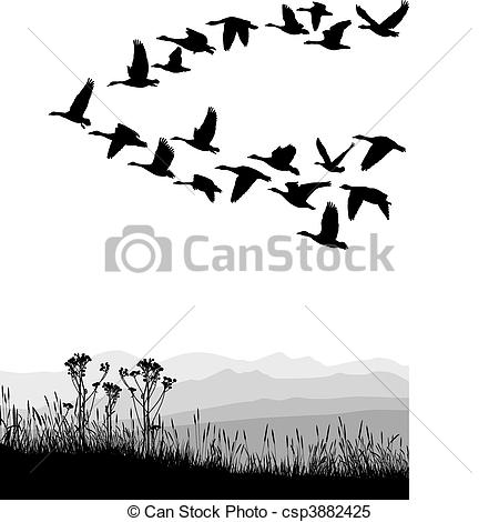 Migrating bird Clipart Vector and Illustration. 227 Migrating bird.